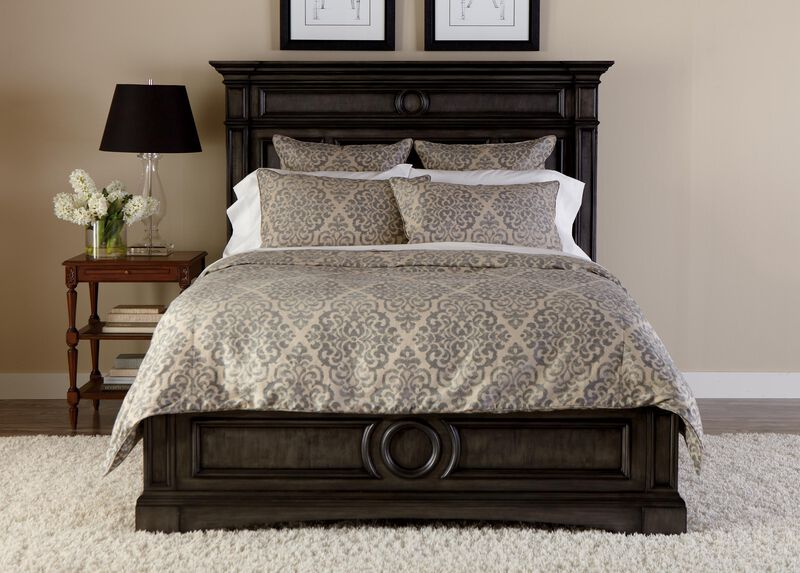 Lucien Scroll Duvet Cover and Shams ,  , large_gray