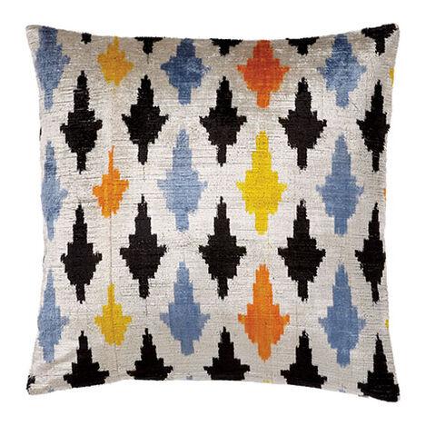Modern Leaf Silk Velvet Pillow, Multicolored Product Tile Image 061301