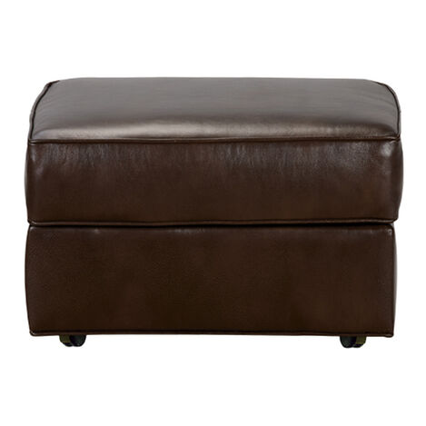 Retreat Leather Ottoman, Quick Ship Product Tile Image 677420