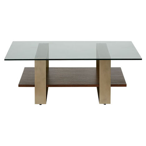 Quick Ship Rosemoor Square Glass Top Coffee Table