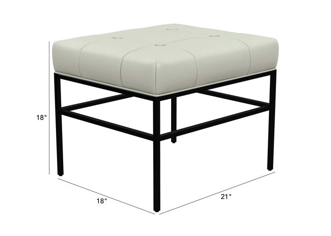 Awesome Ferri Leather Ottoman With Metal Legs Ethan Allen Ottomans Squirreltailoven Fun Painted Chair Ideas Images Squirreltailovenorg