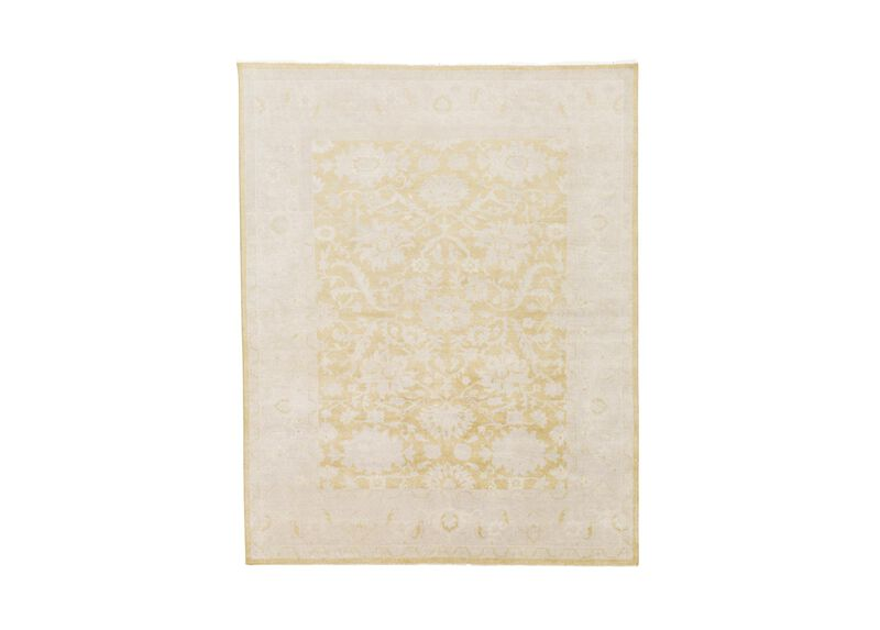 Sultanabad Rug, Gold/Gray