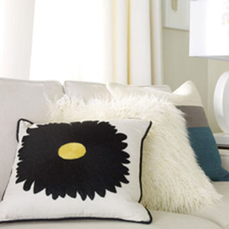 Gerbera Daisy Crewel Pillow ,  , hover_image