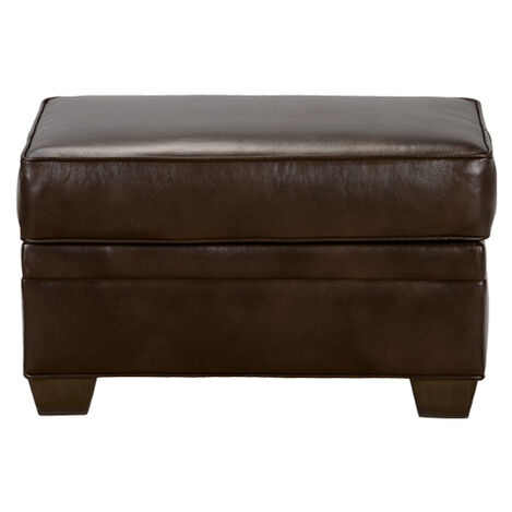 Bennett Leather Ottoman, Quick Ship Product Tile Image 677880