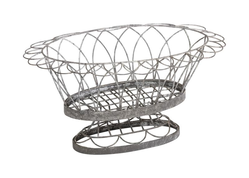 French Wire Oval Planter