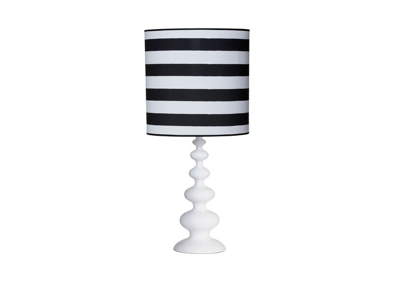 Modern Spindle Table Lamp, Snow
