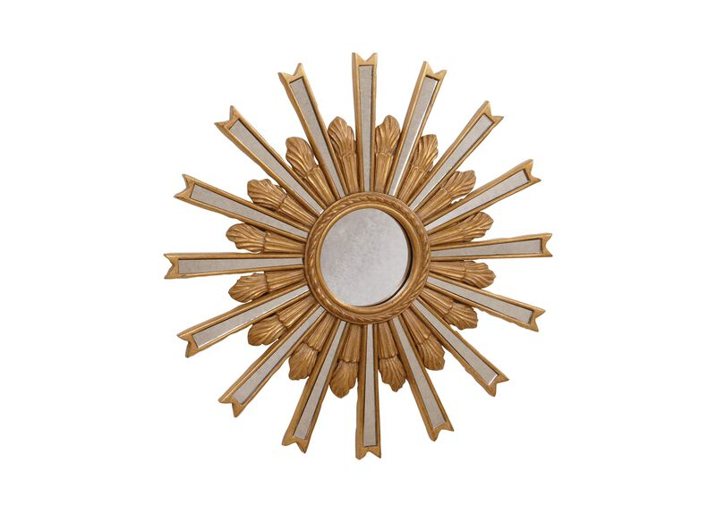 "20"" Gold Starburst Mirror ,  , large_gray"