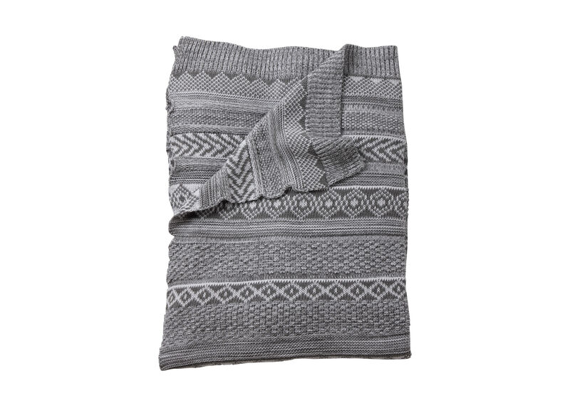 Sweater Stitch Knit Stroller Blanket