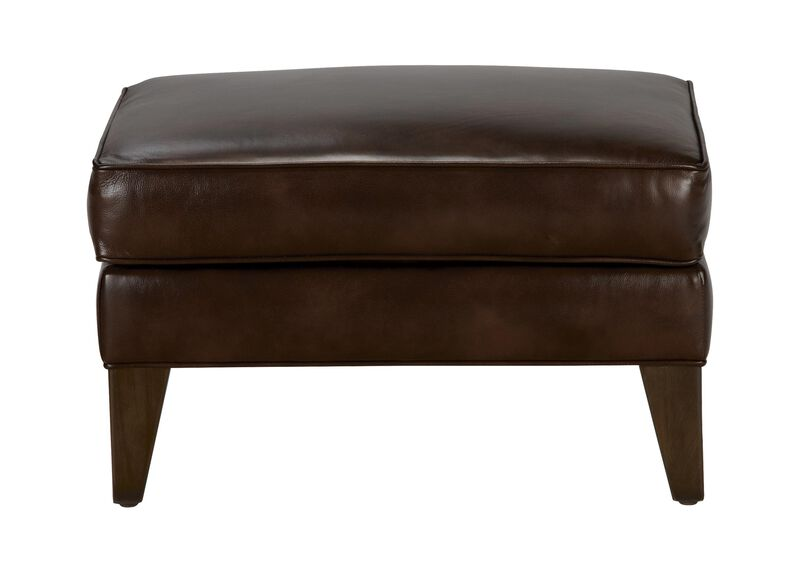 Emerson Leather Ottoman, Quick Ship ,  , large_gray