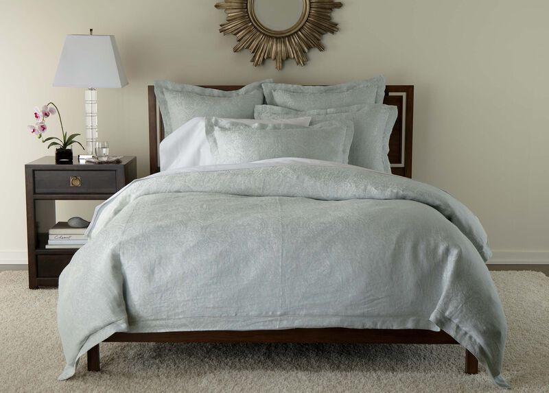 Mineral Linen Paisley Duvet Cover and Shams ,  , large_gray