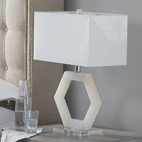 Esma Alabaster Table Lamp Product Tile Hover Image 096042