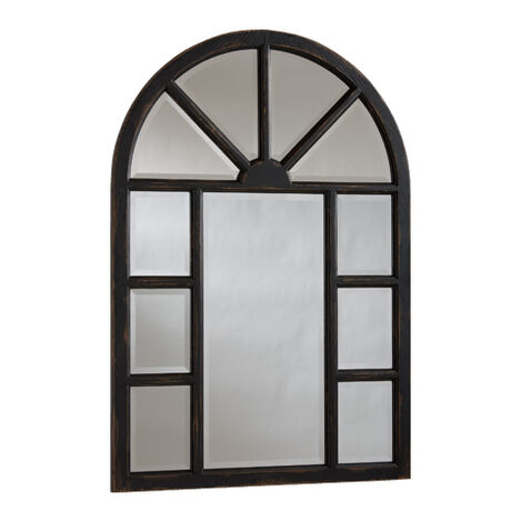 Antique Black Cypress Wall Mirror Product Tile Image 074429B