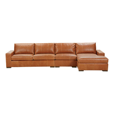 Conway Leather Sectional with Chaise ,  , large