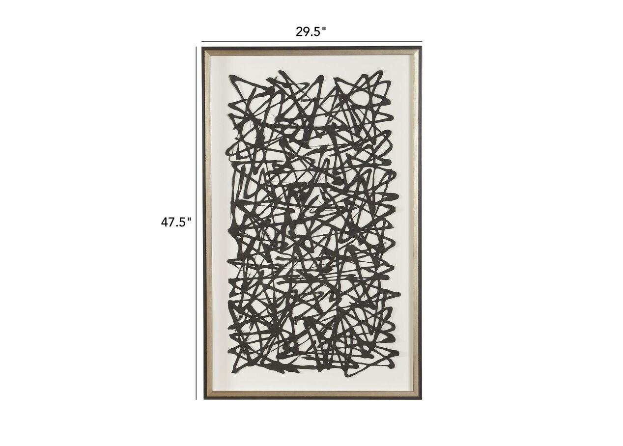 Black Paper Art Abstract Ethan Allen