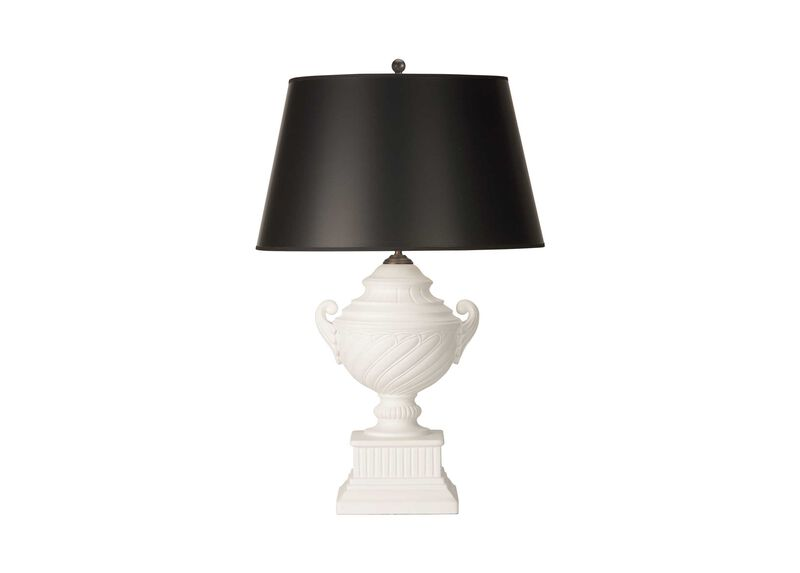 Swirled Ceramic Table Lamp ,  , large_gray