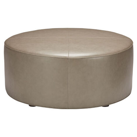 Dallon Leather Round Ottoman Product Tile Image 721020
