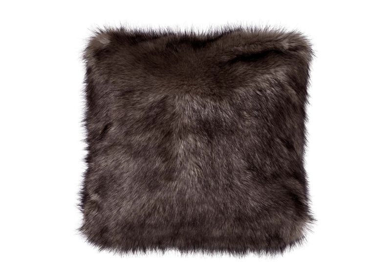 Faux Fur Wolf Pillow ,  , large_gray