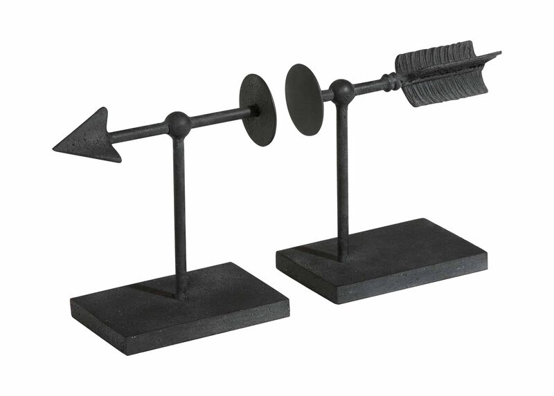 Arrow Bookend Set ,  , large_gray