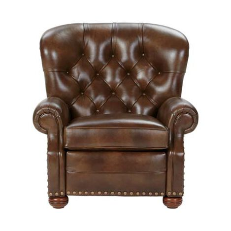 Cromwell Leather Recliner, Omni/Tobacco ,  , large