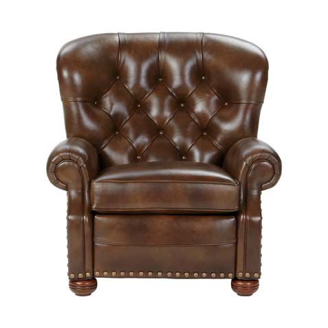 Cromwell Leather Recliner, Omni/Tobacco , , Large ...