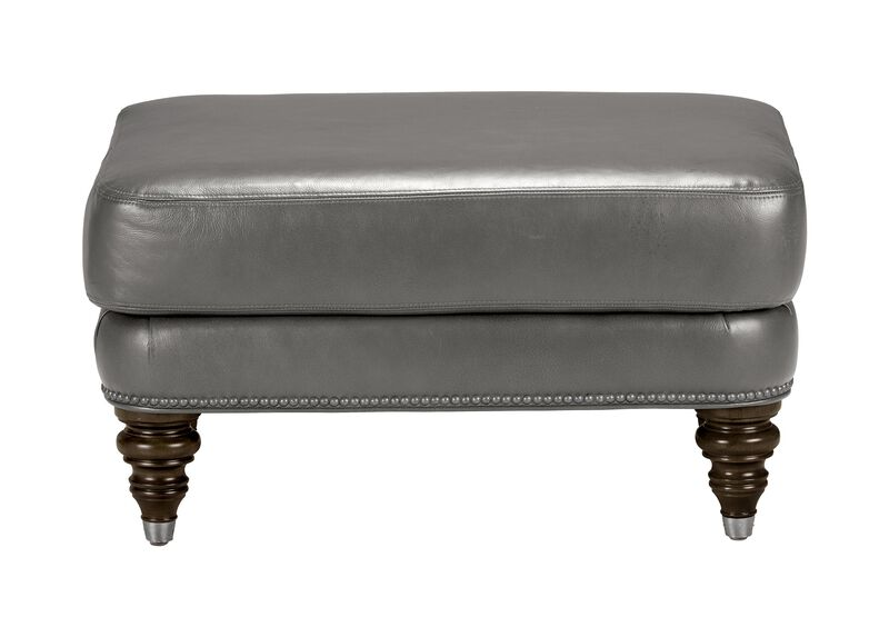 Hyde Leather Ottoman, Quick Ship ,  , large_gray