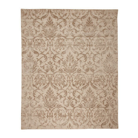 Jacquard Damask Rug, Buff ,  , large