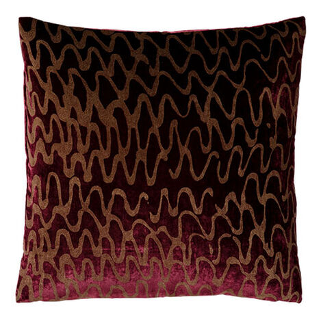Ripple Pillow, Port/Gold ,  , large