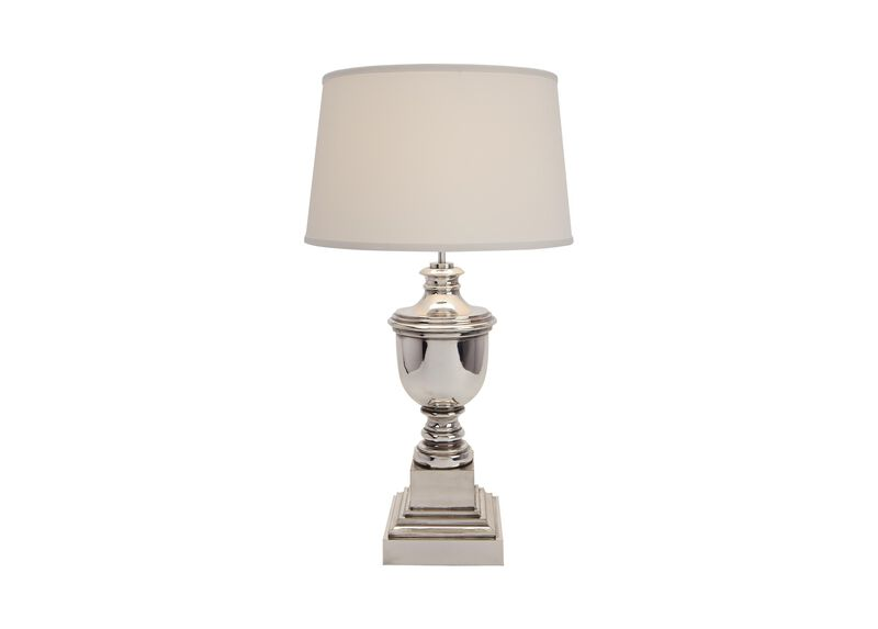 Otis Small Silver Table Lamp