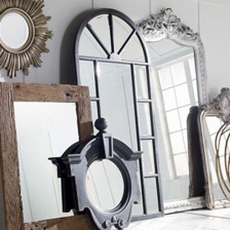 Antique Black Cypress Floor Mirror ,  , hover_image