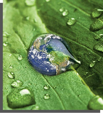 earth in a water drop