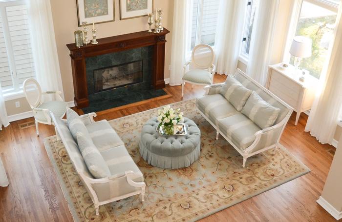 teal blue living room design