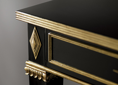 closeup of gilded furniture