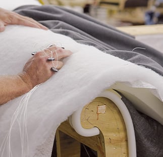 handcrafted upholstery