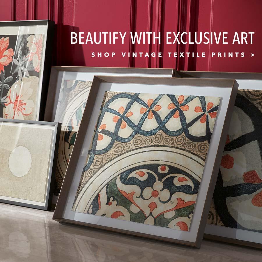 shop vintage textiles art