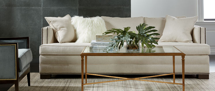Shop sofas and loveseats leather couch ethan allen for Living room ideas ethan allen