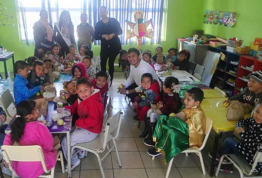 a daycare full of young children and teachers