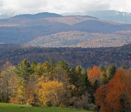 fall in the hills of Vermont