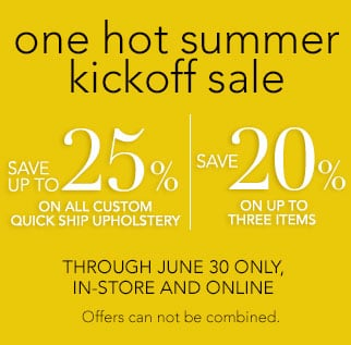 one hot summer kickoff sale now through June 30.