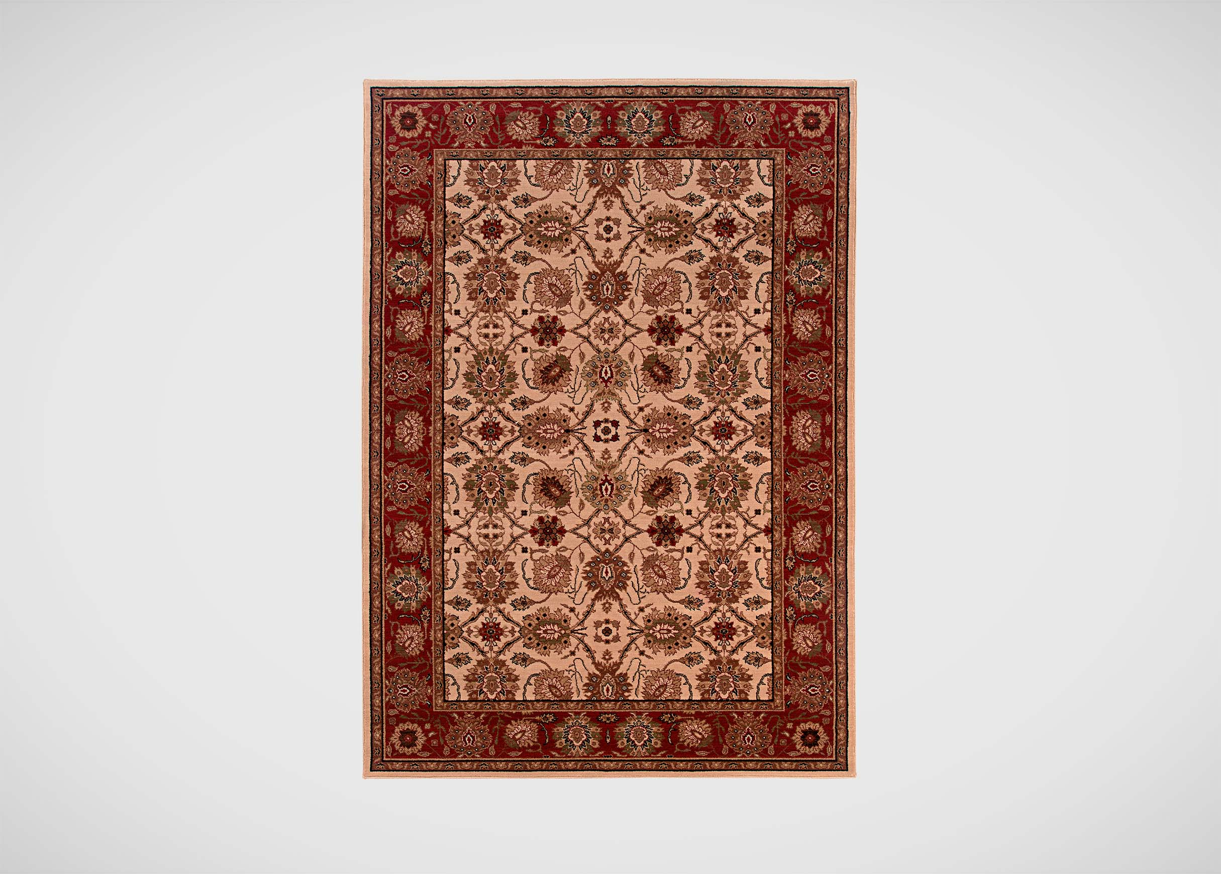 Sultanabad Area Rug Ivory Red Traditional Patterned