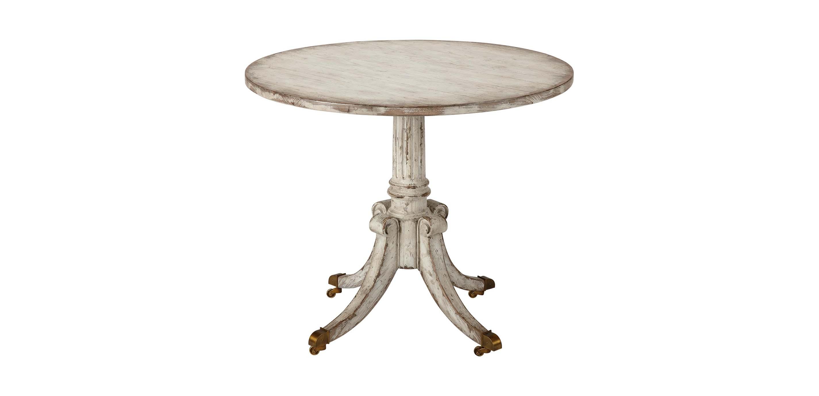 vienna round pedestal table side tables ethan allen. Black Bedroom Furniture Sets. Home Design Ideas