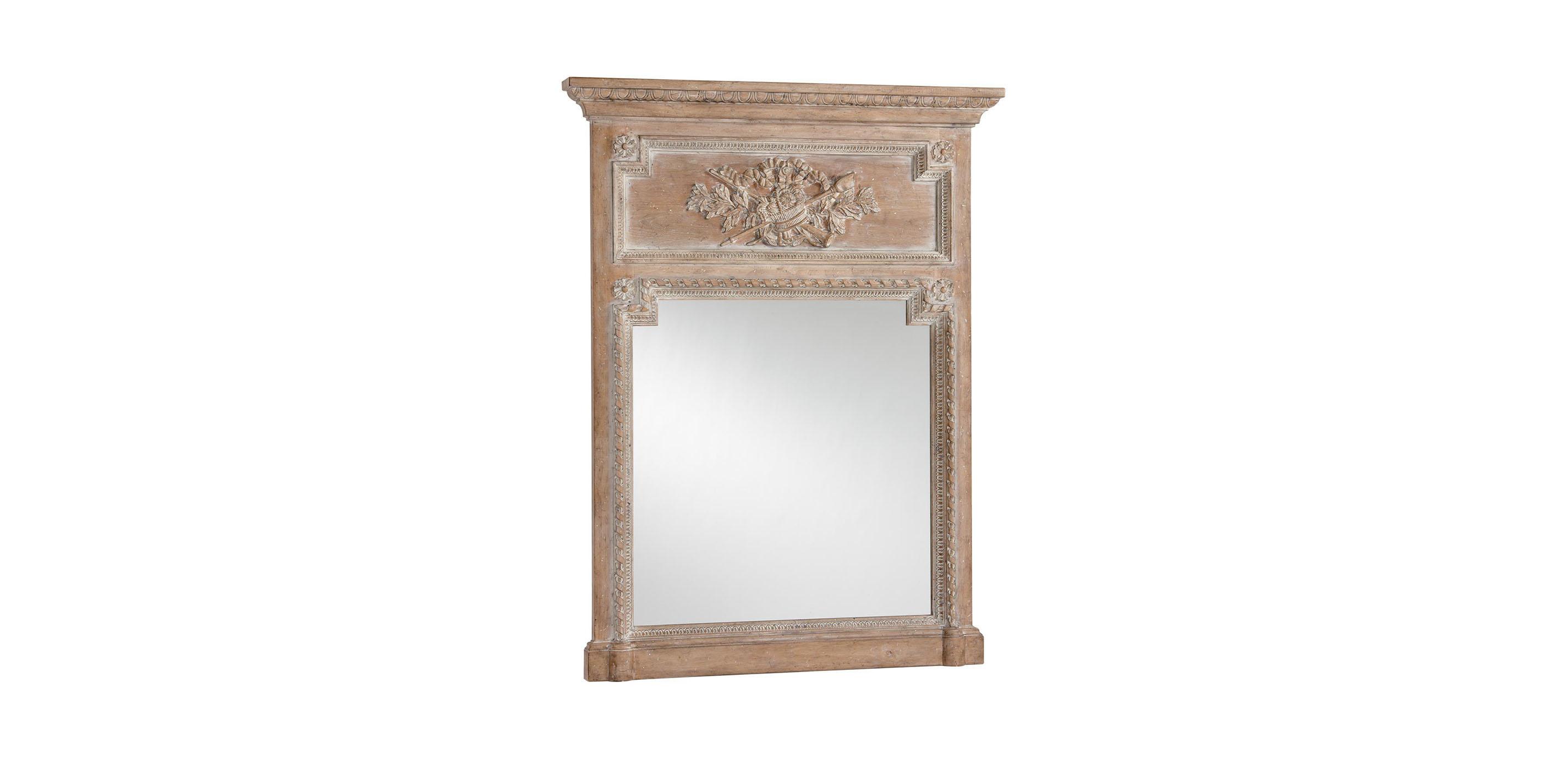 Aged oak madeleine trumeau wall mirror mirrors images aged oak madeleine trumeau wall mirror largegray amipublicfo Images