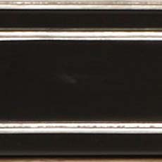 Piano / Silver Metallic Leaf (565): Black paint with silver leaf accents, high sheen. Hempstead Sofa Table