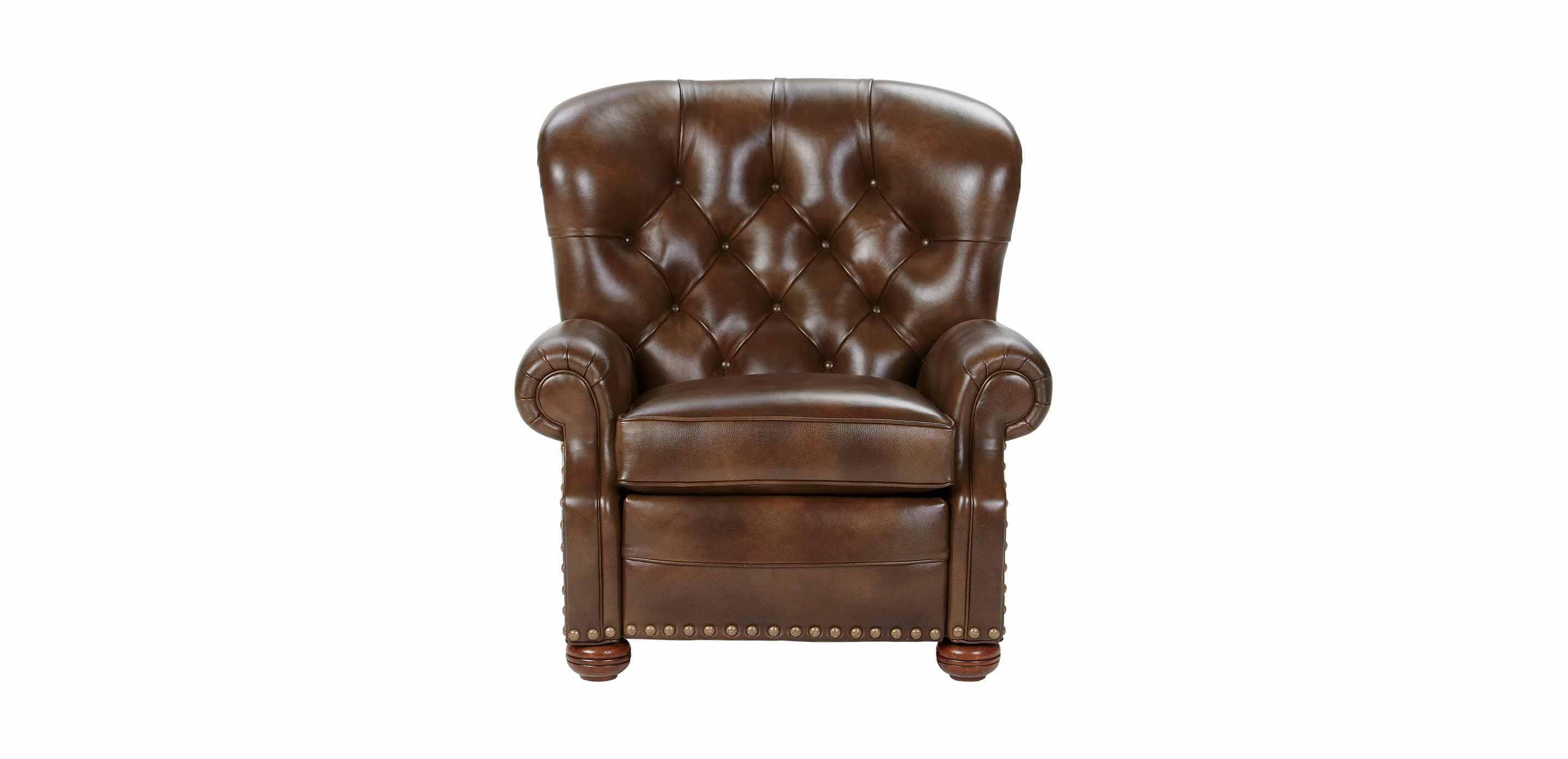 Astounding Cromwell Leather Recliner Omni Tobacco Custom Quick Ship Short Links Chair Design For Home Short Linksinfo