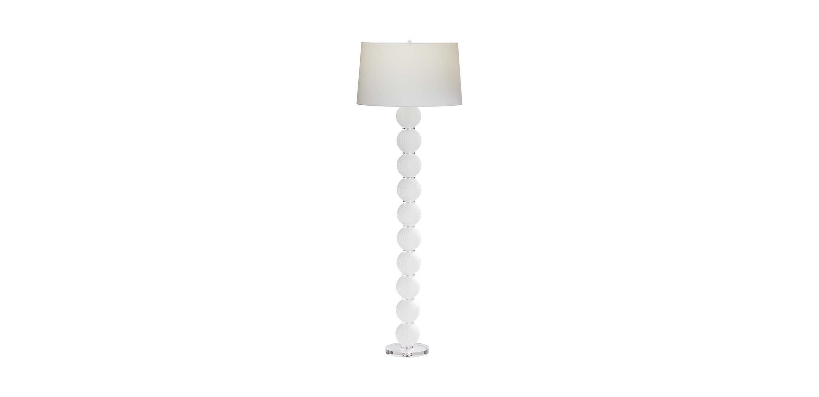 new style 812ff 991b0 Mareena Stacked Glass Ball Floor Lamp | Midcentury | Ethan Allen