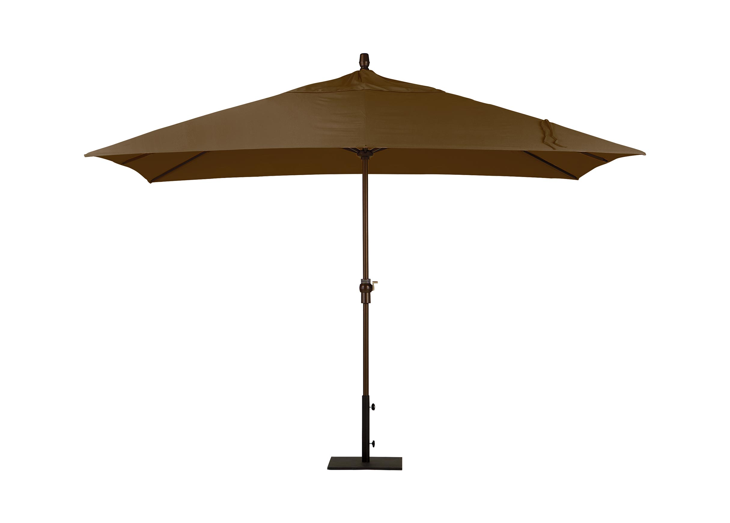 Cocoa Rectangular Market Umbrella Umbrellas Amp Stands