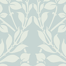 Blue with White Botanica Wallpaper