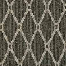 Stately Gray Zia Quilt Serged Rug