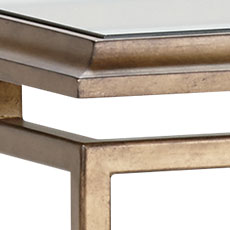 Goldtone (193): Hand-applied aged brass metal finish with light glaze. Beacon Square Coffee Table