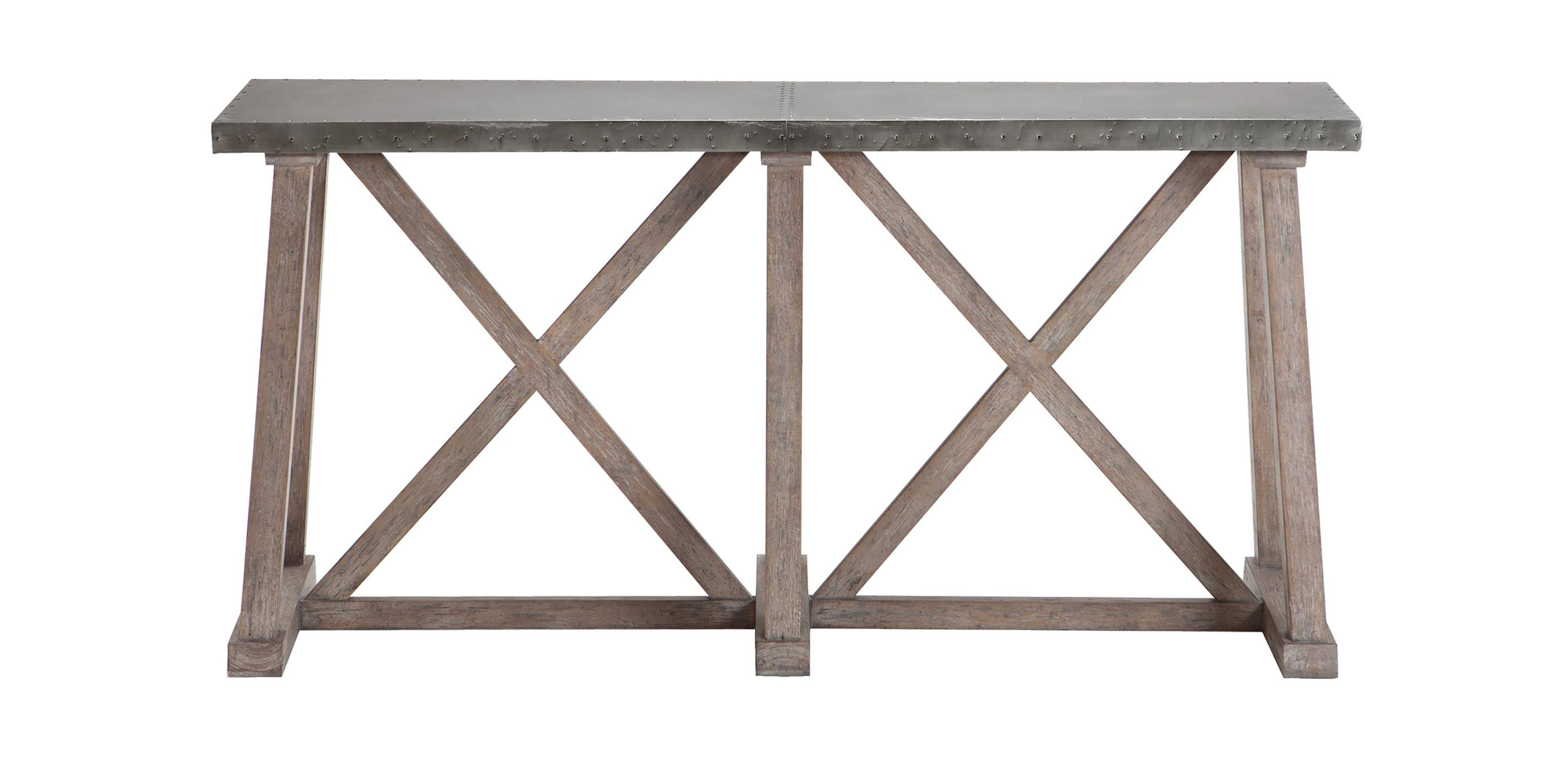 Bruckner Metal Top Console Table