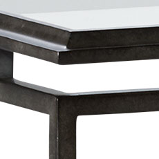 Blackened Pewter (194): Hand-applied aged pewter metal finish with light glaze. Beacon Rectangular Coffee Table